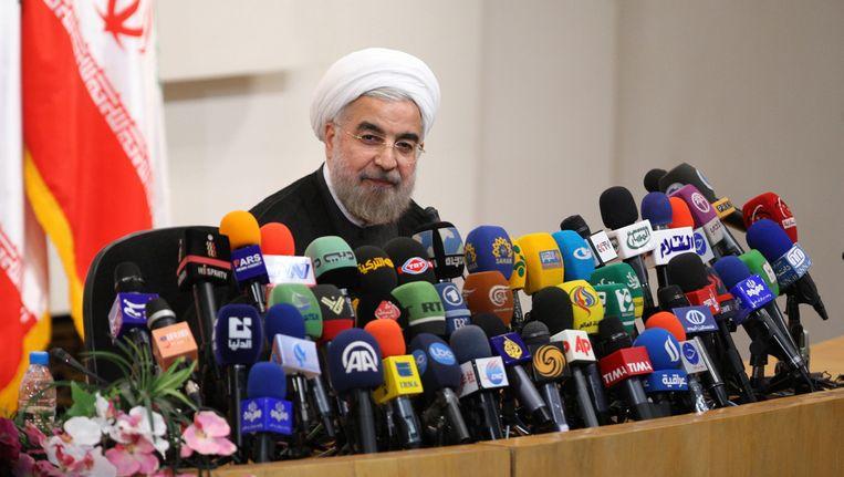 De nieuwe Iraanse president Hassan Rohani. Beeld Reuters