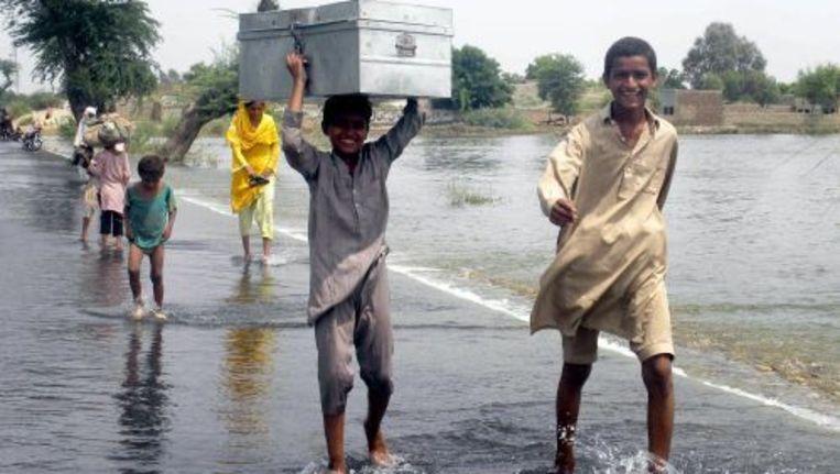 Slachtoffers van de watersnoodramp. ANP Beeld