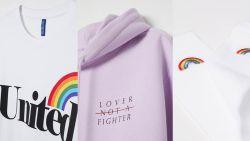"""H&M lanceert Pride-collectie: """"Iedereen het recht heeft om te houden van wie hij wil"""""""
