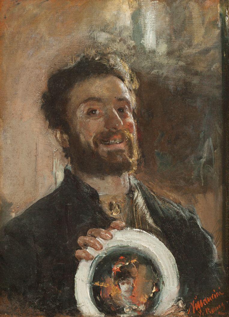 De schilder Antonio Mancini stond bekend om zijn ongewone werkwijze en gewoonten.   Beeld De Mesdag Collectie