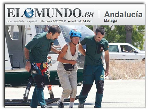 Screendump van de editie Andaluicia. © ELMUNDO