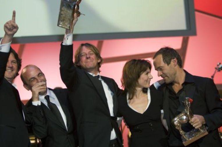 Frans van Gestel (M) tijdens het Gala van de Nederlandse Film in 2008. ANP Beeld