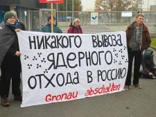 Protestactie tegen transport verarmd uranium via Twente