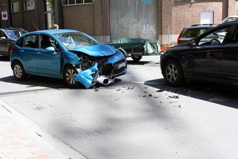Ongeval aan de Vaartkom in Leuven.