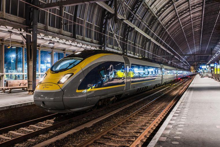 Een Eurostartesstrein, eerder dit jaar op spoor 15 van Amsterdam Centraal Beeld Niek Stam/NS Internationaal