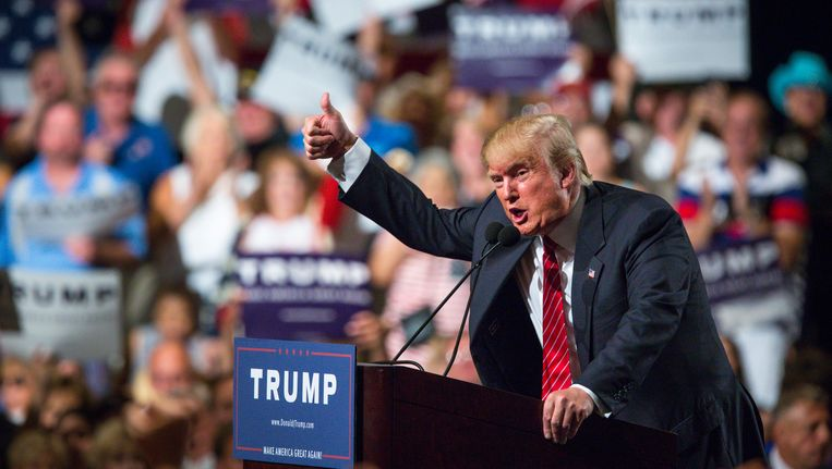Trump zaterdag in Arizona. Beeld getty