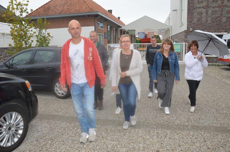 De ouders van Glenn tijdens de 'Walk for Glenn' vorig jaar.