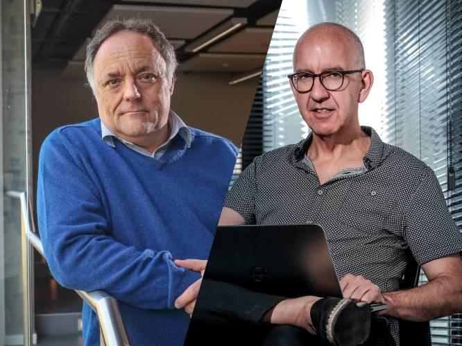 """INTERVIEW. Marc Van Ranst en Geert Molenberghs over hoe het nu verder moet: """"Kappers open? Zonder varianten had het gekund. Nu is het totaal niet haalbaar"""""""