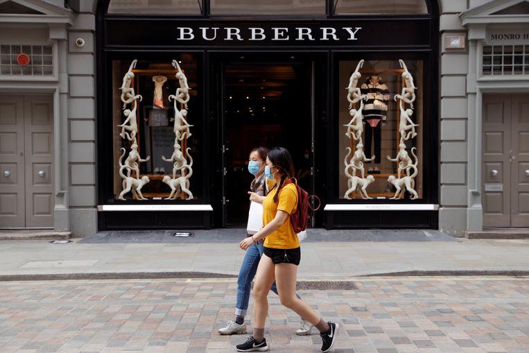 Een Burberry-winkel in Covent Garden, Londen.