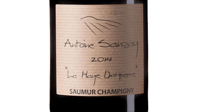 Antoine Sanzay 2014, Saumur-Champigny. Beeld