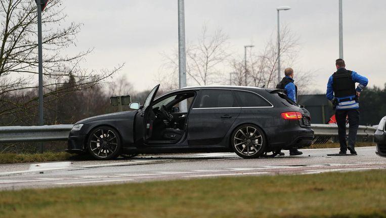 Bij de schietpartij waar Aymad A. onlangs voor werd veroordeeld vluchtte hij met twee Amsterdammers in een gestolen Audi RS4. Beeld anp