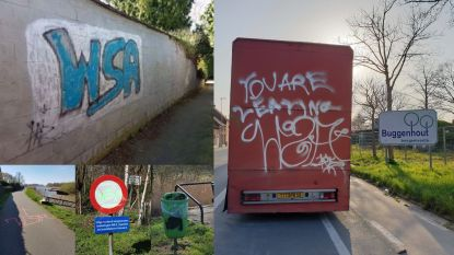 Politie zoekt vandaal die graffiti aanbracht