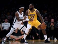 LeBron neemt Lakers bij de hand, Nuggets loopt averij op