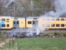 Treinverkeer plat door branden
