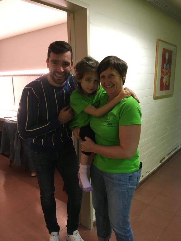 Annalina Vandenborn met mama Ann en Metejoor