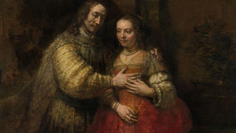 Rembrandt van Rijn, Isaak en Rebekka, bekend als Het Joodse bruidje, ca. 1665. Beeld Rijksmuseum