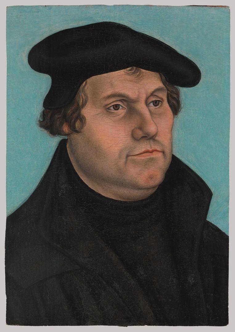 Maarten Luther door Lucas Cranach, 1532. Beeld Lucas Cranach