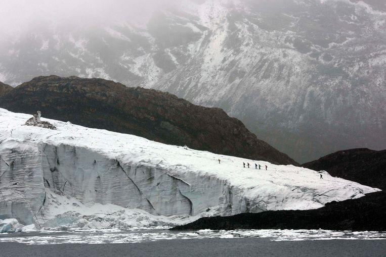 De Pastoruri-gletsjer in het nationale park van Huascaran.