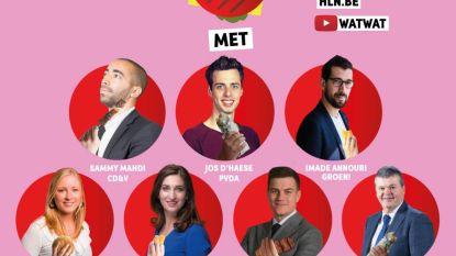Jongeren en politici in gesprek tijdens het 'Grote Snackdebat'