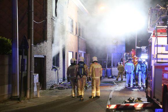 Woningbrand in de Wulmersumsesteenweg.