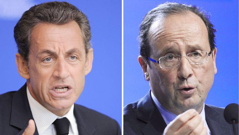 """Sarkozy noemde uitdager Hollande """"een nul""""."""