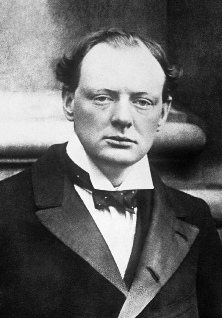 Een jonge Winston Churchill (1904).