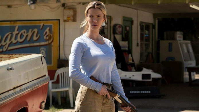 Betty Gilpin in de controversiële film 'The Hunt'