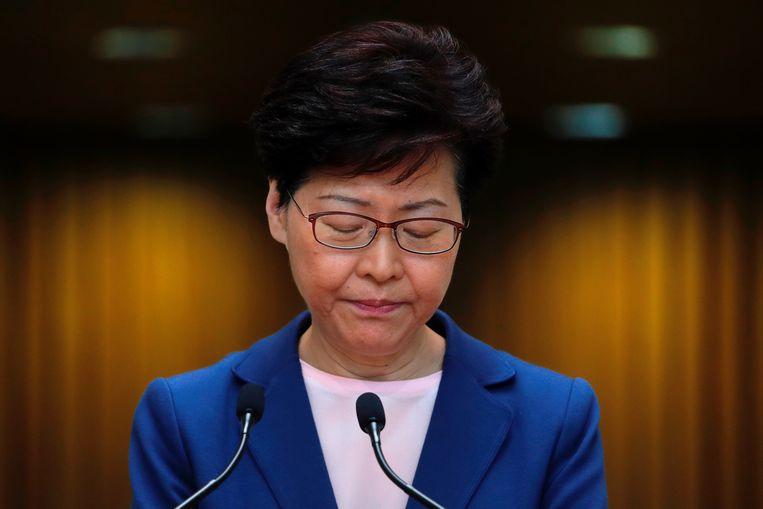 Carrie Lam, regeringsleider van Hongkong.