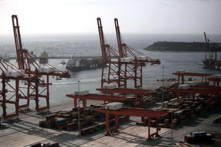 De haven van Piraeus. Beeld anp