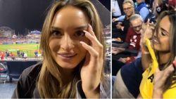 """Instagrammodellen tonen borsten tijdens World Series """"voor goed doel"""""""