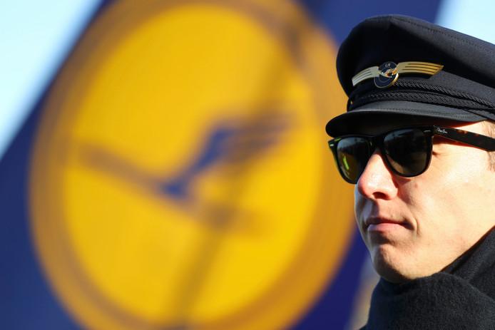 Een piloot van Lufthansa
