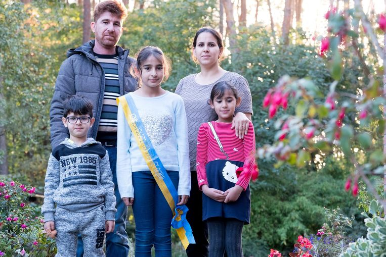 Maram (m.) met haar papa Mohamed, mama Reham, broertje Achmed en zus Rahma zijn overgebracht naar een terugkeerplaats in Zulte.