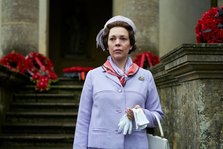 Olivia Colman als Queen Elizabeth in The Crown. Beeld Des Willie / Netflix