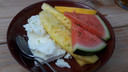 Semifreddo van limoen en yoghurt.