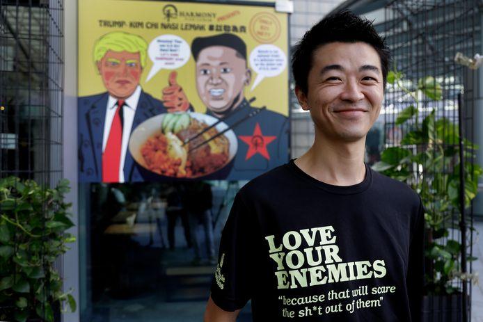 Zach Wen, tot voor kort werkzaam in Amsterdam, heeft de wereldpersgehaald met zijn 'Trump-Kim Chi Nasi Lemak'.