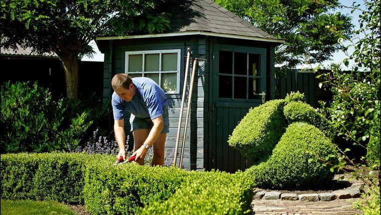 In de tuin werken geldt in de nieuwe richtlijnen van de Gezondheidsraad ook als beweging. Beeld anp
