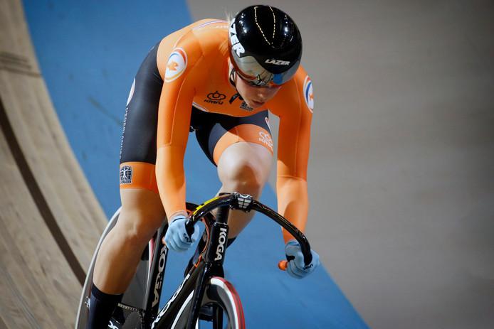 Shanne Braspennincx tijdens de Europese Kampioenschappen dit jaar in Apeldoorn.