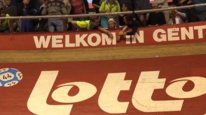 Zesdaagse van Gent lijkt dit jaar wel vervloekt: Kuipke nu opgeschrikt door zware crash met G-sporters