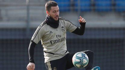 Eden Hazard traint opnieuw met bal, raakt hij fit voor Madrileense stadsderby?