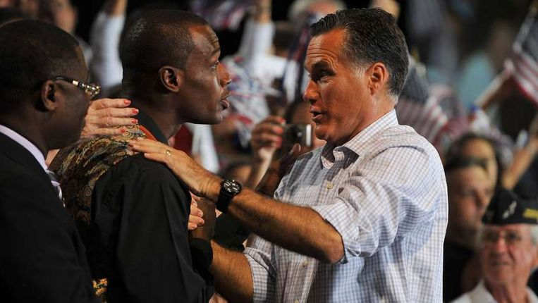Mitt Romney op 19 september op een campagne-evenement in Miami.