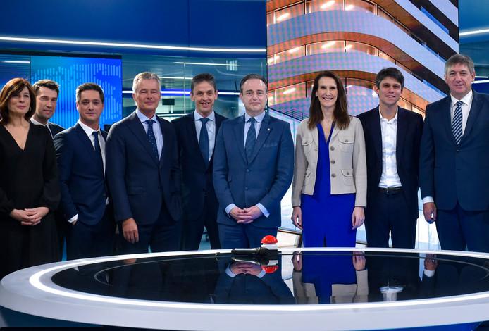 Inauguration du nouveau studio de VTM à Anvers.