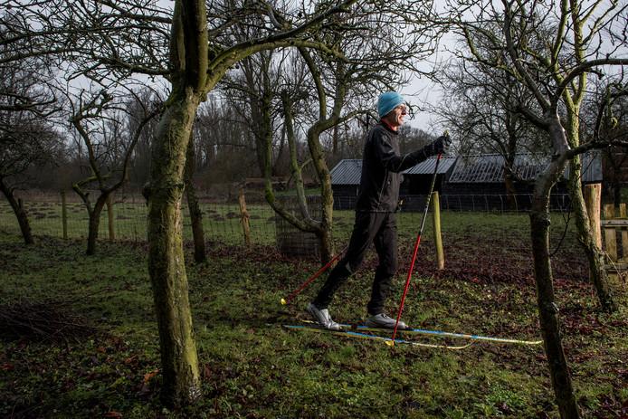 Langlaufer en wintersporter Edward Jacobs wacht met smart op de winter.