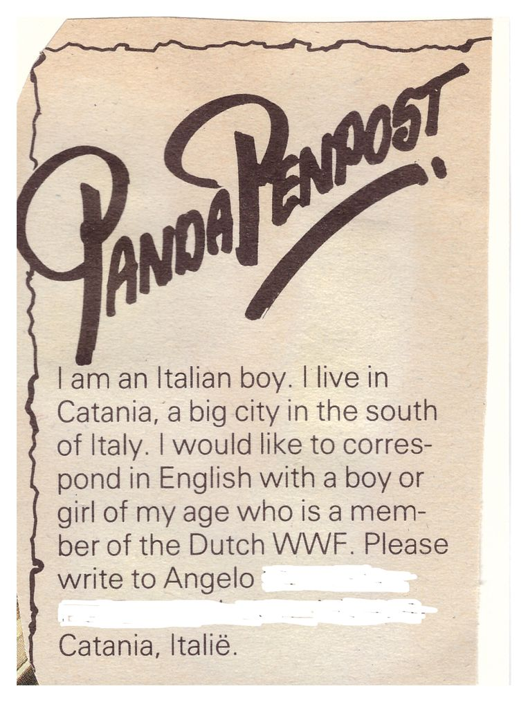 De oproep in TamTam uit 1986. Beeld null