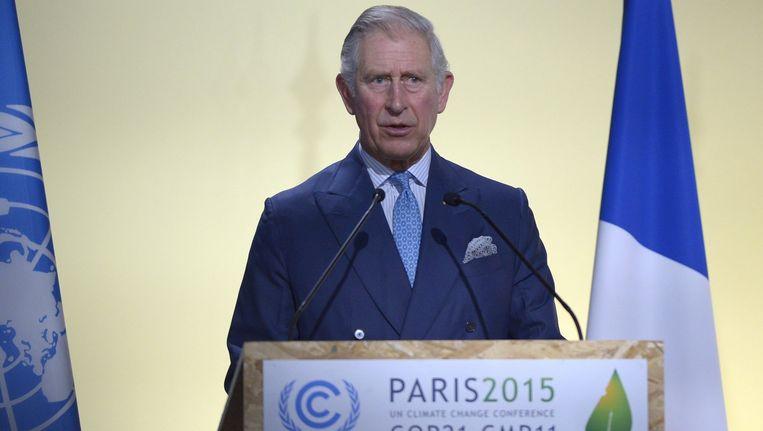 Prins Charles bij de klimaattop in Parijs Beeld anp