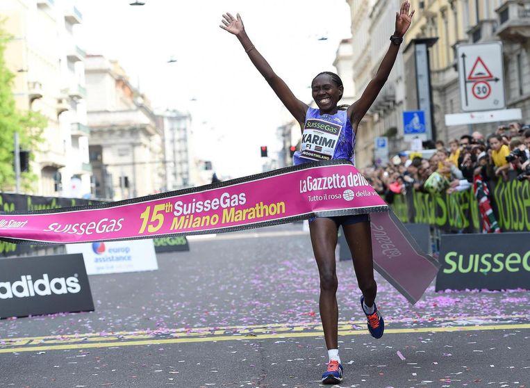 Lucy Karimi won in 2015 de marathon van Milaan. Beeld anp