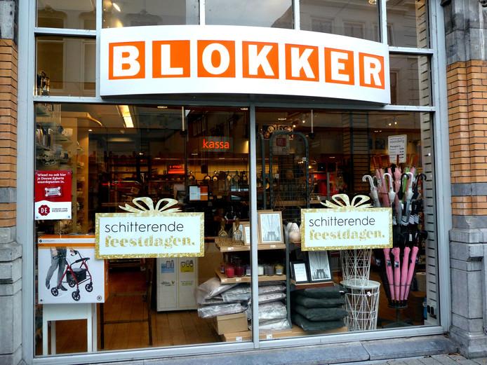 Neutrale etalage bij Blokker