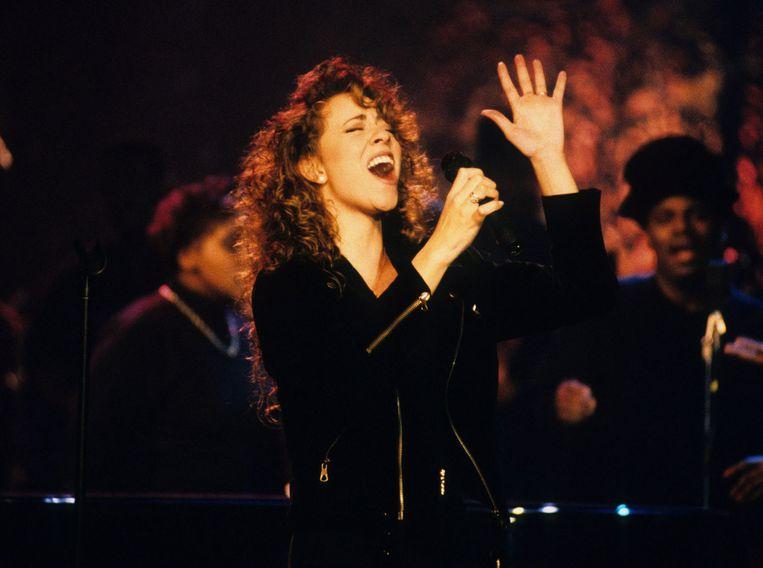 Mariah Carey tijdens MTV Unplugged.  Beeld