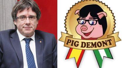 Bedrijf achter hesp 'Pig Demont' ontkent dat logo geïnspireerd is door Catalaanse ex-minister-president