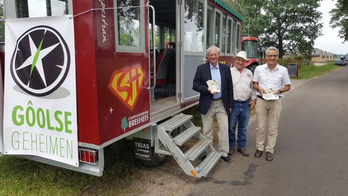 Met de paardentram werden ondernemers in Goirle en Riel bezocht.