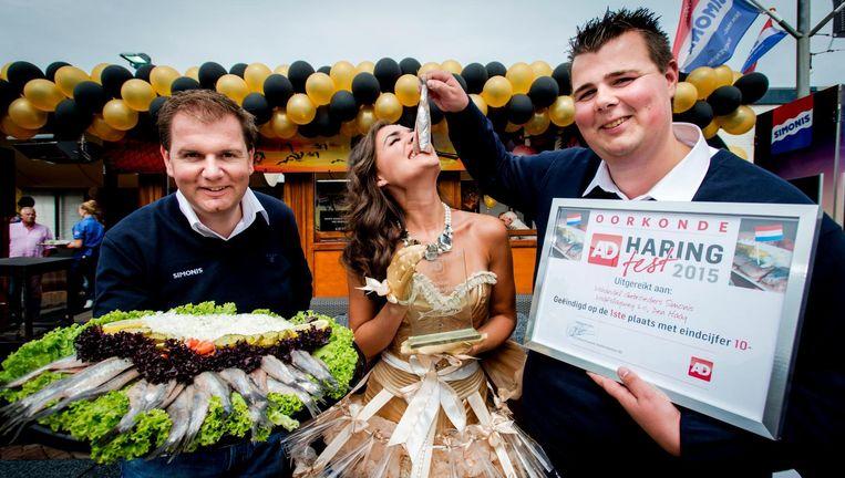 De winnaars van Vishandel Gebroeders Simonis in Den Haag. Beeld anp
